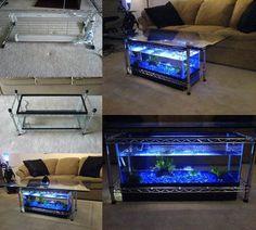 How to DIY Aquarium Coffee Table