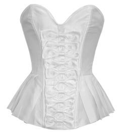 White Bow Front Corset with Pleated Sides. See below for prices and links! Crystal x      Model: SJ-202     (http://www.corset-story.com/sj-202-white-bow-front-corset-with-pleated-sides.html)