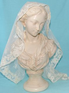 St Mary Magdelene's Ivory Mantilla by PetersBride on Etsy, $40.00