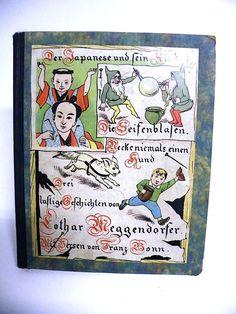 Lothar Meggendorfer Geschichten 1.Auflage und 3.Auflage in einem Buch zusammen Gebunden. Gebrauchter Originalzustand. Eine seite ist lose.  $85.00