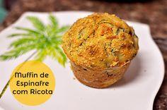 Receita Muffin de Espinafre com Ricota bolinho light natural