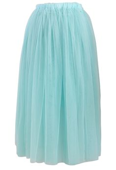 Seasfoam Color Tulle Skirt - Skirt - Bottoms - Retro, Indie and Unique Fashion