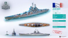 Let's get familiar with the French battleship that went to war in an unfinished state. World Of Warships Wallpaper, Anime Military, French Army, World Of Tanks, Military Weapons, Battleship, World War Ii, Wwii, Hale Navy
