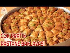 EVDE PASTANE BAKLAVASI OKLAVA KULLANMADAN EN PRATİK YÖNTEMLE🍃BU BAYRAM BAKLAVALAR SİZDEN🙋🏼 - YouTube Turkish Recipes, Ethnic Recipes, Turkish Delight, Beautiful Cakes, Sweet Recipes, Food And Drink, Granola, Make It Yourself, Dishes