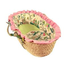 Harriet Bee Orear Moses Basket with Bedding Trim Style: Tailored
