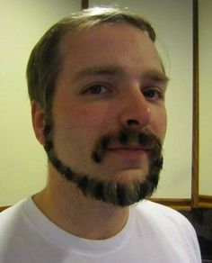No Shave November: The Craziest Facial Hair!  Cat tail face!