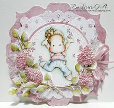 Cards by Barbara: Blooms and Bows ... Creative Inspiations Challenge...