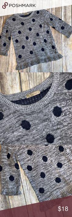 1815e97b2f Grey Navy Polka Dot Sweater Von Maur Urban Day M L Like New Grey and