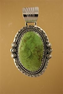 Gaspeite Pendant by MT Jewelry