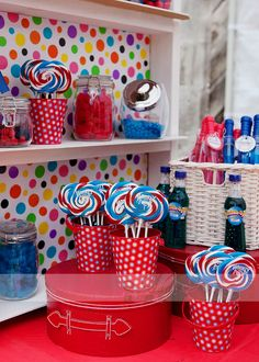 Favorite containers! Vintage Circus/ Carnival Birthday Party