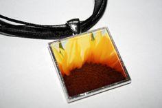 Necklace Wearable Art Dwarf Sunflower by HeatherNewkirkPhotos, $18.00