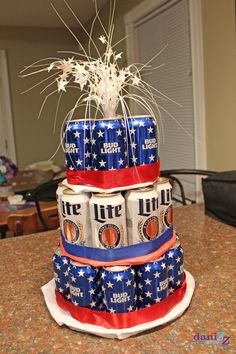 Beer Can Cake Tutorial Step 5