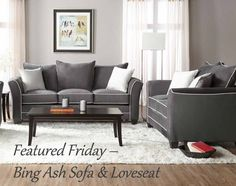 This week's Featured Friday is classic, comfy & just your style. http://blog.americanfreight.us/featured-friday-bing-ash-sofa-and-loveseat/?utm_campaign=crowdfire&utm_content=crowdfire&utm_medium=social&utm_source=pinterest