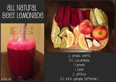 Juicing recipe - beet lemonade!