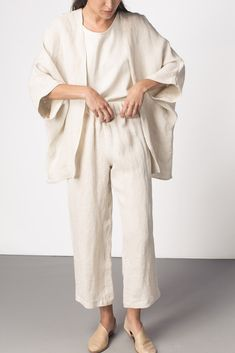 Emma Kimono Flax Linen | TGB INSPO | t the-great-beyond.com