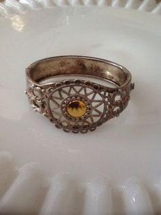 Premier Designs Cuff Bracelet Silver Goldtone