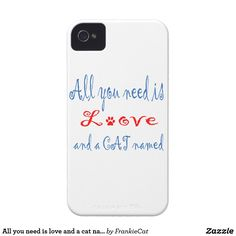 All you need is love and a cat named... Case-Mate iPhone 4 case