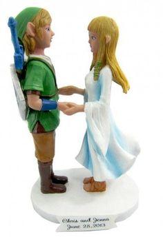 Link and Zelda wedding cake toppers