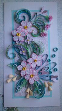 Card made of paper strips in the technique of quilling totally mightylinksfo