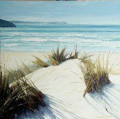 """Artist: Caroline Atkinson; Acrylic 2013 Painting """"Dune Viewpoint"""""""