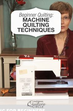 Quilting Ideas Machine Quilting for Beginners - Peg Spradlin provides extremely helpful tips on machine quilting for beginners. Quilting For Beginners, Quilting Tips, Quilting Tutorials, Quilting Projects, Sewing Projects, Sewing Tips, Quilting Board, Sewing Basics, Sewing Hacks