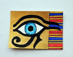 I need gold paint and I wouldn't paint a real eyeball.