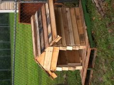 Dog house made from pallets