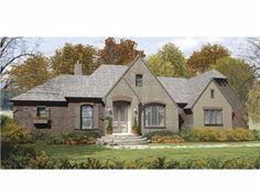 french country style 1 story 3 bedroomss house plan with 2059 total square