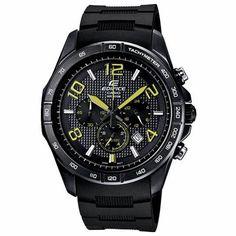 Casio Edifice Black Label Chronograph Mens Watch EFR516PB-1A3V
