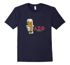 Amazon.com: Men's Men's College Alpha Sigma Pi Fraternity Drinking Shirt…