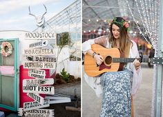 The Jam Event // wooden event signage from music themed wedding inspiration // Wild Heart Events