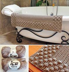 Pretty Bath Puff Crochet Mat Free Pattern