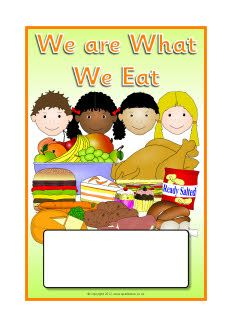 We are What We Eat editable topic book covers (SB8681) - SparkleBox