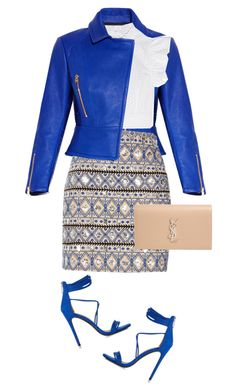 """ootd"" by lisamichele-cdxci ❤ liked on Polyvore featuring Hervé Léger, Express, River Island, Philosophy di Lorenzo Serafini, Yves Saint Laurent and ootd"