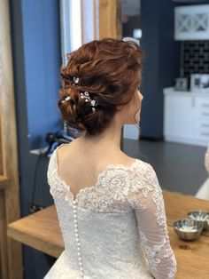 Gelin Saç ve Makyaj- Gelin Saç ve Makyaj - Engagement Hairstyles, Bridal Hairstyles, Bridal Hair Updo, Green Dress, Hair Goals, Baby Dress, Blonde Hair, Short Hair Styles, Marriage