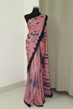 PURE SILK CHIFFON TIE AND DYE SAREE. 100 percent pure silk Dispatched in 4 to 7 days. Dry Clean. Can be customised in any shades. Contact us at akrithionline@