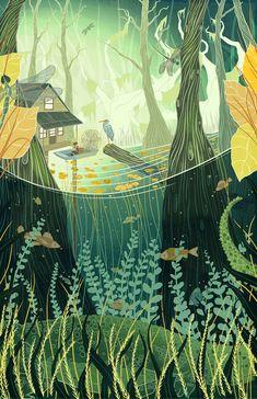 Волшебный мир. Иллюстратор Kailey Whitman - Все интересное в искусстве и не только.