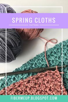 Free crochet pattern for dish cloths or washcloths! Knit Or Crochet, Free Crochet, Crochet Hats, Spinning Yarn, Crochet Kitchen, Clothing Patterns, Spring Outfits, Crochet Projects, Cloths