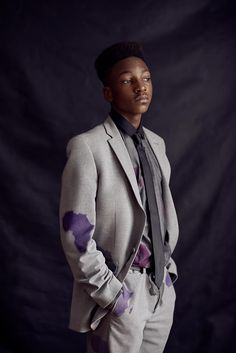 Personal work // Sanogo's family by Luc Valigny - #art #creative #photography #portrait #colored #suit #africa