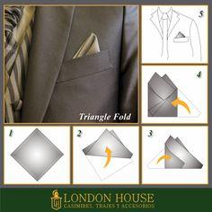 Trajes de Novio y Ternos London House: PAÑUELO, DOBLE TRIANGLE FOLD. TERNOS LIMA