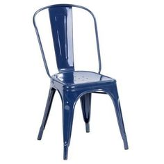 Fly fabrik 99 90 chaise gris chaises pinterest - Chaise de jardin bleu marine ...