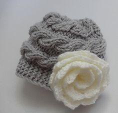 Kids Hat Baby Girl Hat Newborn Hat Photo Prop Baby Knit by Ifonka