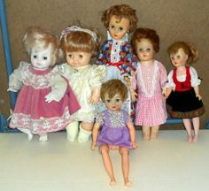 Vintage Baby Doll Lot of 6 Horsman Sleepy Eyes Walking Hard Soft Body Pale 14 to 18 Inch $12