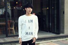 Korean Brands, Ulzzang, Long Sleeve Tops, Graphic Sweatshirt, Lettering, Sweatshirts, Sleeves, Sweaters, Fashion