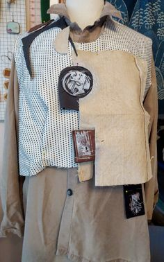 Great idea for altered shirt or vest [Diane Ericson Design]