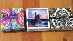 Do you want to try your hand at personalized coasters? Find detailed instructions to decorate tiles with napkins or photos. They make wonderful gifts for friends or family and are easy to customize!