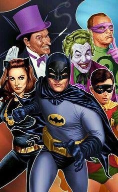 Batman & The villains of Gotham : from the original TV cast Batman Y Superman, Batman Poster, Batman 1966, Batman Artwork, Batman Robin, Batman Arkham, Adam West Batman, Batman Tv Show, Dc Comics