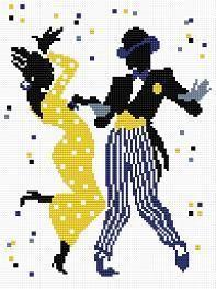grafico punto de cruz gratis en pdf para bordar pareja de baile
