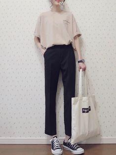 15 more outfits coreanos mujer casual – – MY World Korean Fashion Trends, Korean Street Fashion, Korea Fashion, Asian Fashion, Look Fashion, Trendy Fashion, Fashion Outfits, Fashion Design, Feminine Fashion
