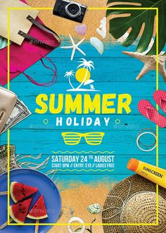 Summer Holiday Flyer Template PSD. Download here: https://graphicriver.net/item/summer-holiday-flyer/17407785?ref=ksioks